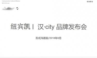 中国综合性集团纽宾凯集团汉city品牌发布会策划方案(精品案)