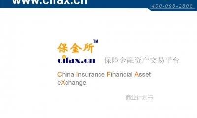 金融服务平台保金所-保险金融资产交易平台商业计划方案