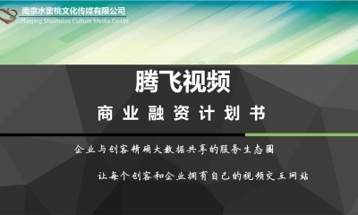 大数据共享的服务生态圈【腾飞视频】商业计划方案