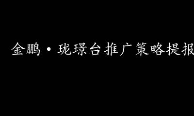房地产项目营销-2018合肥金鹏·珑璟台2018年形象提报&推广策略方案