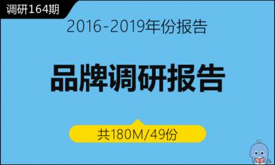 调研164期 品牌调研报告