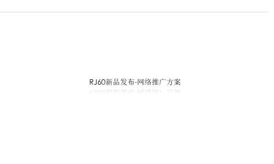 家用电器品牌-松下洁乐新品RJ60网络推广产品营销推广策划方案