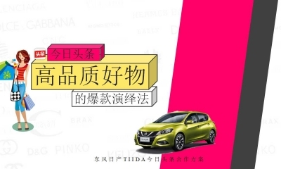 其策划品牌—东风日产TIIDA&今日头条高品质好物合作营销策划放方案(附件都是PDF改为PPT)