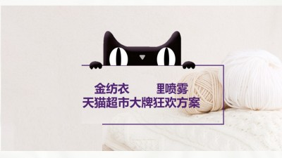 电商天猫活动金纺衣物护理喷雾大牌狂欢营销策划方案