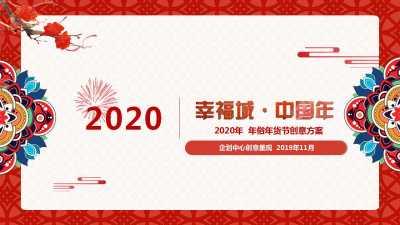年俗年货节(幸福城中国年主题)创意方案