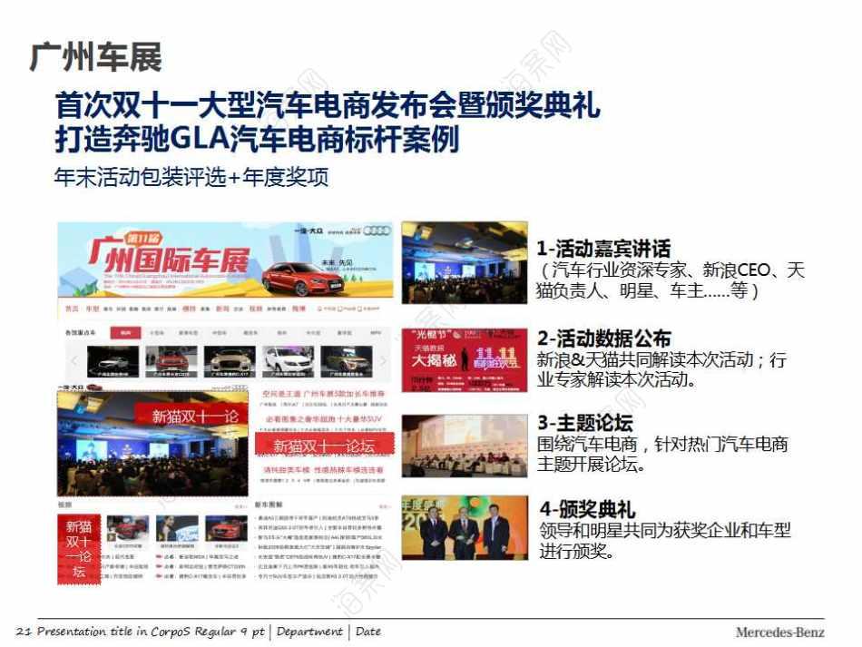 汽车品牌-奔驰GLA双十一新浪合作产品推广方案