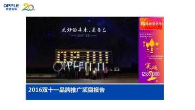 家电品牌-欧普照明双十一产品推广方案
