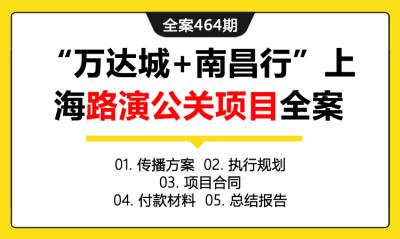 """全案464期 度假品牌""""万达城+南昌行""""上海路演公关传播项目全案(包含传播方案 +执行规划+项目合同 +付款材料+总结报告)"""