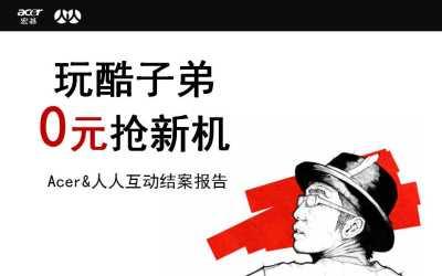 电子产品品牌-宏碁Acer玩酷子弟主题营销策划方案