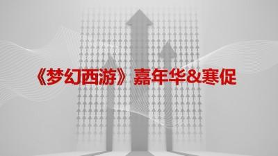 网易网络游戏品牌-《梦幻西游》梦幻嘉年华&寒促推广方案