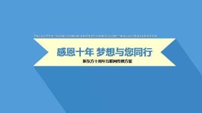 中国大型教育机构-新东方十周年互联网传播推广方案