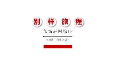 主题旅行真人秀《别样旅程》旅游轻网综IP市场推广商业计划书方案