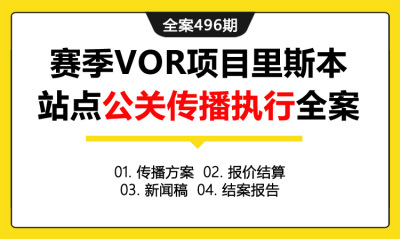 全案496期 东风汽车品牌赛季VOR项目里斯本站点公关传播执行全案(包含传播方案+报价结算+新闻稿+结案报告)