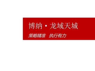 房地产-济阳博纳·龙域天城项目推广方案