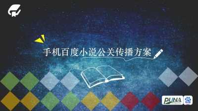 互联网平台手机百度小说公关传播传播推广方案