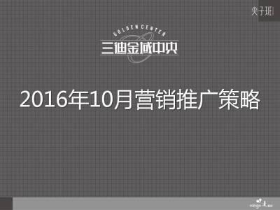房地产品牌三曲金成中央营推广策略方案