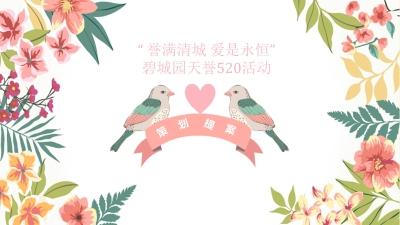 房地产《誉满清城 爱是永恒》碧城园天誉520情人节主题活动策划方案