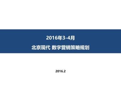 汽车周边-北京现代全新途胜3数字营销策略规划