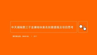 房地产行业中天湖南第三子圭塘地块案名创意提报及项目思考方案