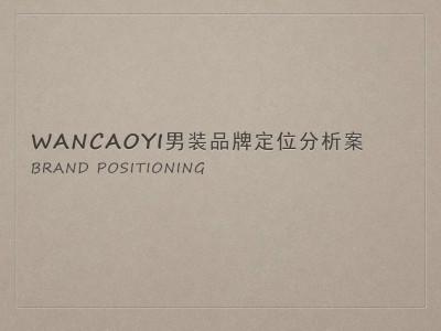 服装品牌菀草壹wancaoyi男装品牌定位分析方案