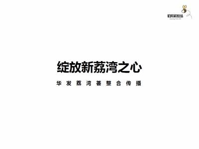 房地产品牌华发荔湾荟年度营销整合推广策划方案
