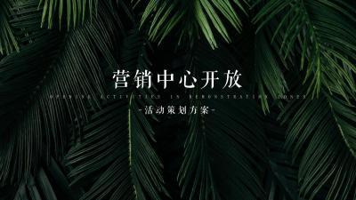 2020营销中心盛大开放暨·珍稀植物标本展活动策划方案-83P