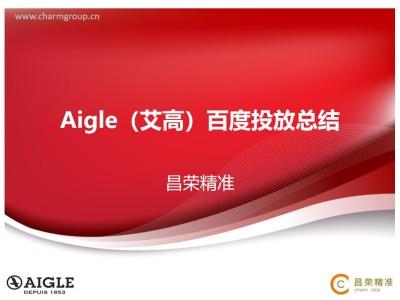 知名户外服装品牌Aigle(艾高)百度投放营销策划方案