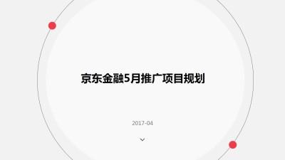 金融行业品牌京东金融5月推广项目规划策划方案