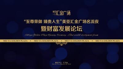 商业地产美亚汇金广场名流夜暨财富发展论坛活动策划方案