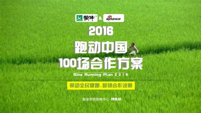 """互联网中文咨询平台-新浪""""跑动中国100""""蒙牛总冠名合作营销策划方案"""