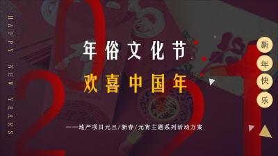 2021地产项目欢喜中国年主题(含元旦、春节、元宵节)系列活动策划方案-60P