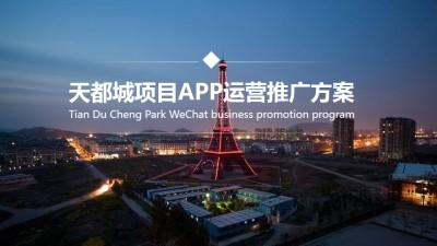房地产品牌天都城APP新媒体营销运营推广方案
