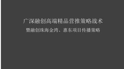 2020广深融创高端精品珠海金湾和惠东融创桃花源项目策略推广方案 213P]