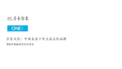 主流文化领域品牌亭东传媒融资计划书方案