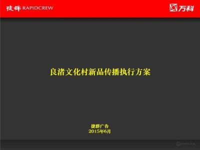 商业地产品牌万科良渚东南两大新品传播执行推广方案