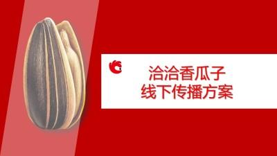 休闲零食品牌洽洽香瓜子线下传播推广方案