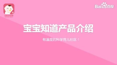 互联网母婴品牌百度宝宝知道品牌规划推广方案【30+13P】