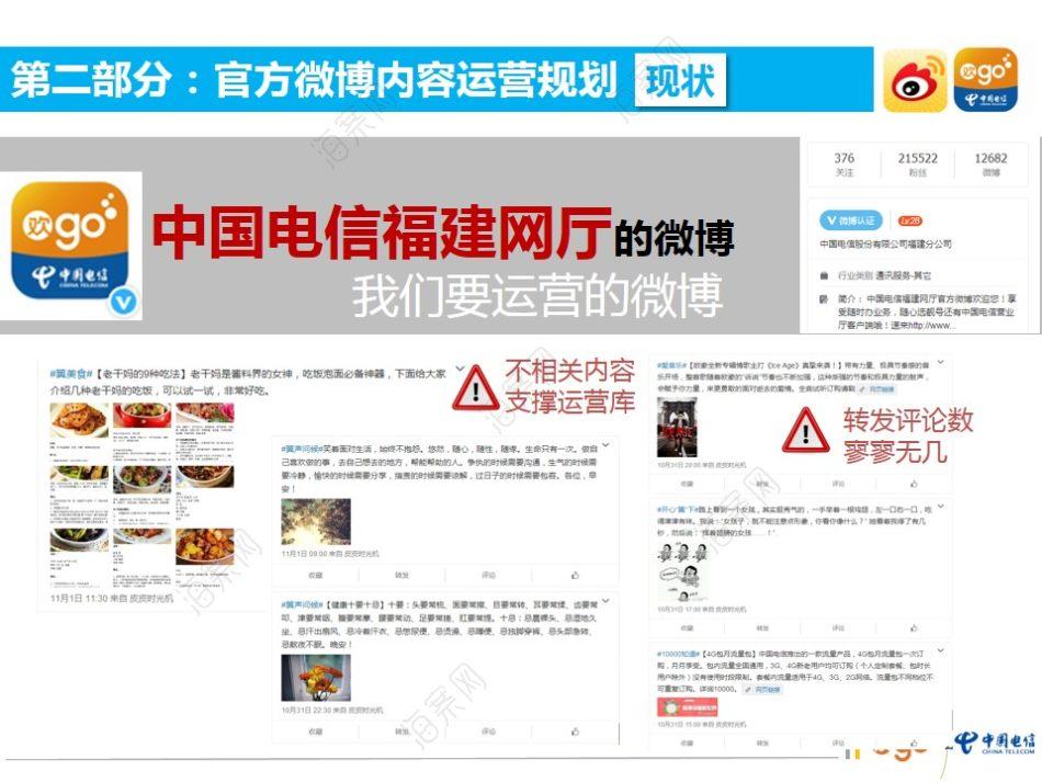 通讯运营商福建电信电子渠道垂直社群内容运营双微运营策划方案【67P】