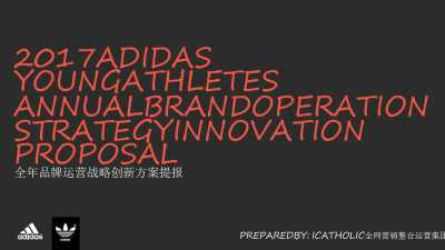 运动服饰品牌阿迪达斯全年品牌运营战略创新策划方案【20P】