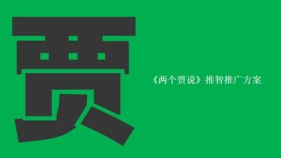 综艺脱口秀节目《两个贾说》推智推广策划方案【60P】