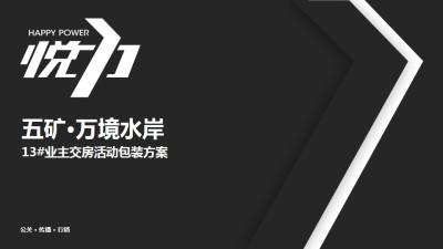 房地产品牌五矿万境水岸13#交房活动策划方案【32P】