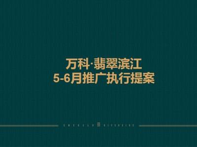 商业地产品牌万科翡翠滨江项目5-6月推广策略方案【50P】