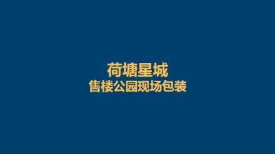 房地产品牌荷塘星城现场包装是策划方案【30P】