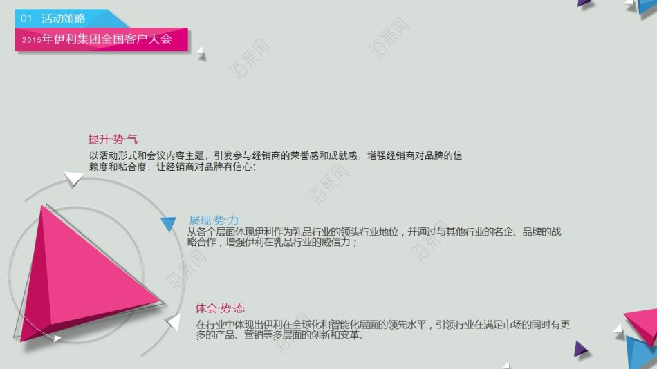 大型主题活动伊利集团全国客户大会活动策划方案【114P】