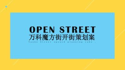 房地产行业地产项目魔方街开街活动策划方案81p
