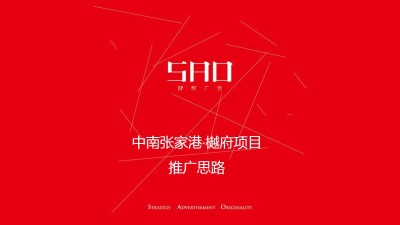 房地产品牌中南张家港越府项目推广思路方案【172P】