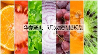 农产品品牌华蒙通4、5月双微运营规划策划方案【34P】