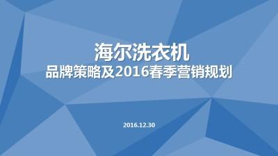 家电品牌海尔洗衣机年度品牌营销策划方案【28P】