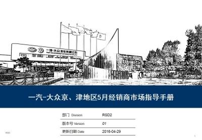 汽车品牌一汽-大众京、津地区5月经销商指导手册策划方案【38P】