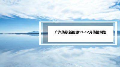 汽车品牌广汽传祺新能源11-12传播规划整合营销方案【22P】